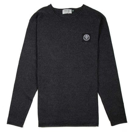 "Senlak ""Atwell"" Crew Neck Sweater - Charcoal"