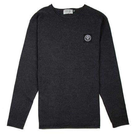 "Senlak ""Atwell"" Crew Neck Sweater - Charcoal"