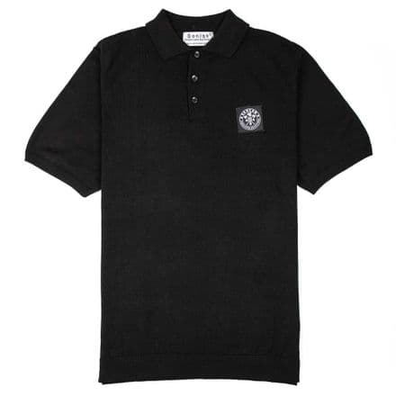 "Senlak ""Barnum"" Knitted Polo - Black"