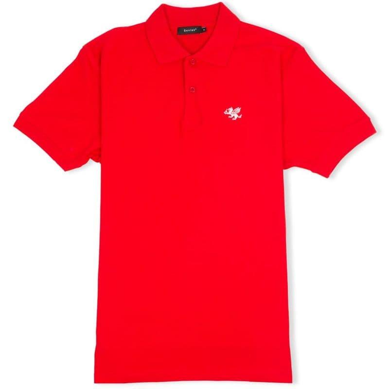 Senlak Classic Pique Polo Shirt - Red
