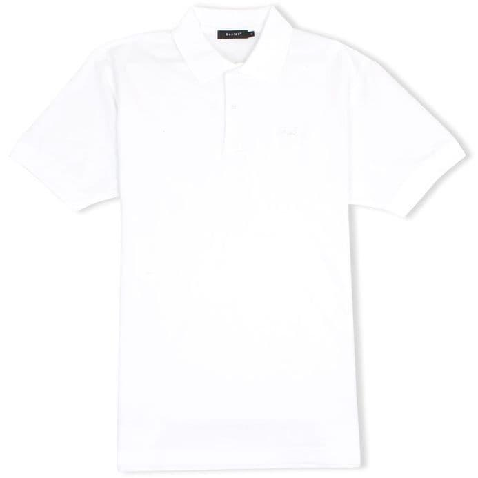 Senlak Classic Pique Polo Shirt - White