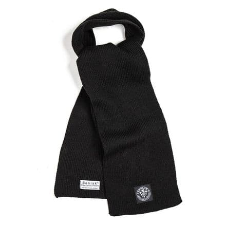 Senlak Heavy Knit Scarf - Black