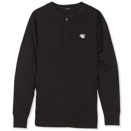 Senlak Henley Longsleeve T-Shirt - Black