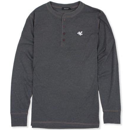 Senlak Henley Longsleeve T-Shirt - Dark Grey