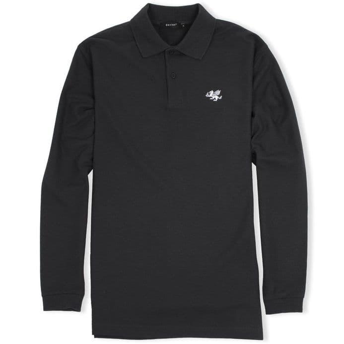 Senlak Long Sleeved Polo Shirt - Black