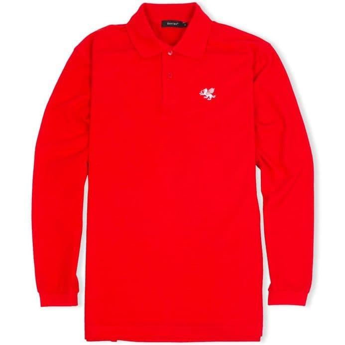 Senlak Long Sleeved Polo Shirt - Red