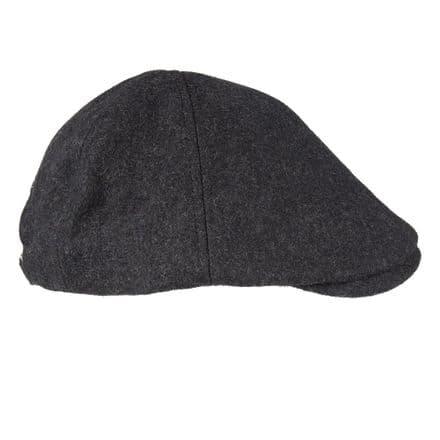 Senlak Melton Wool Flat Cap - Charcoal Marl