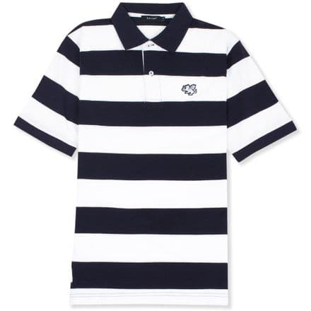 Senlak Striped Pique Polo Shirt - Navy/White