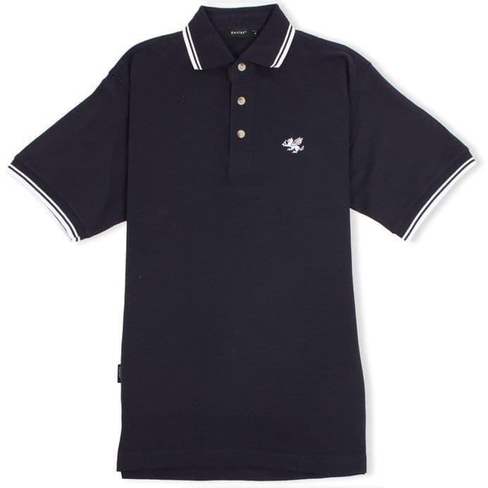Senlak Tipped Polo Shirt - Navy/White