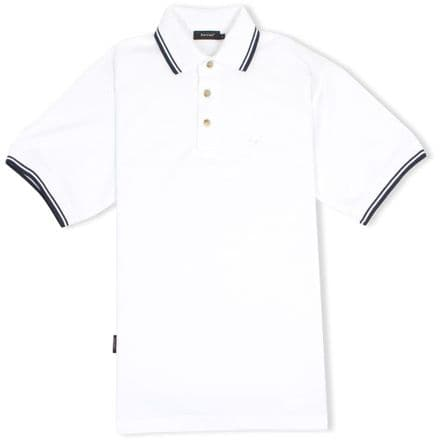 Senlak Tipped Polo Shirt - White
