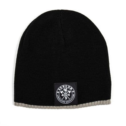 Senlak Two Tone Beanie - Black/Stone