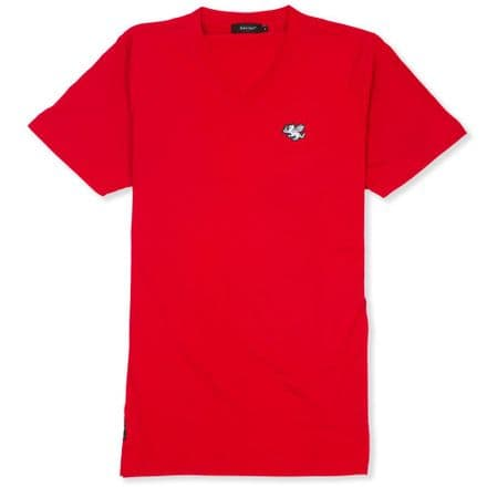Senlak V-Neck Logo T-shirt - Red