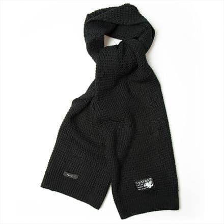 Senlak Waffle Knit Scarf - Black