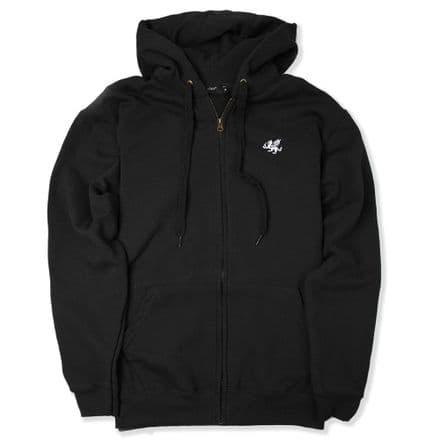 Senlak Zip Hooded Sweatshirt - Black