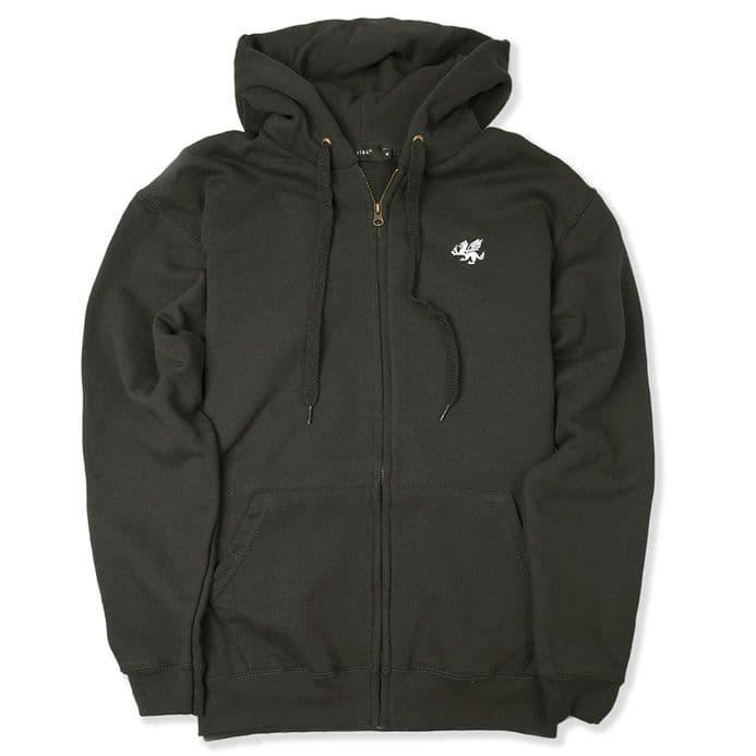 Senlak Zipped Hood - Charcoal - England Hooded Sweatshirt