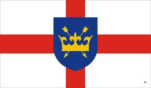 St Edmund Flag Patron Saint of the English  - 5ft x 3ft polyester flag with metal eyelets