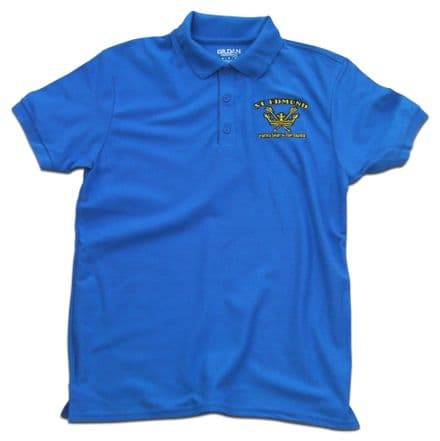 St Edmund Polo Shirt - Royal Blue