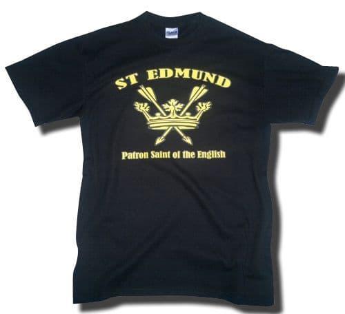 St Edmund Patron Saint of the English T-Shirt - Black