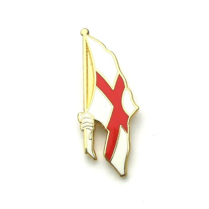 England Badge - St George Hand Flag