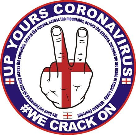 "Two Fingers ""Up Yours Coronavirus"" Sticker"