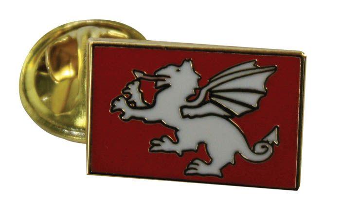 White Dragon England Lapel Badge