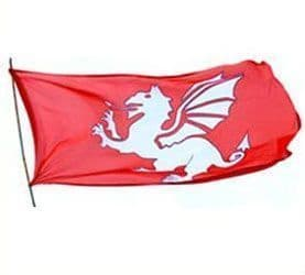 White Dragon Flag of the English 5ft x 3ft