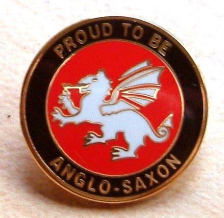 White Dragon Round Lapel Badge