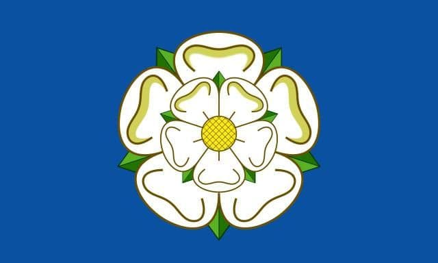 Yorkshire County Flag - 5ft x 3ft polyester flag with metal eyelets