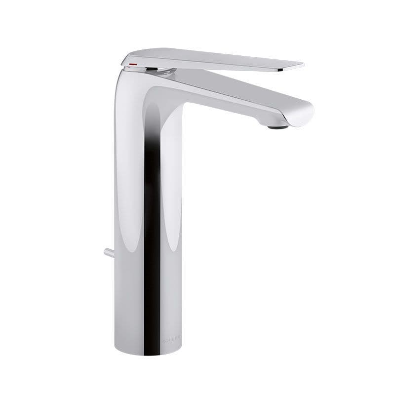 Kohler Avid Tall Deck-Mounted Monobloc Basin Mixer Tap with Lever Handle