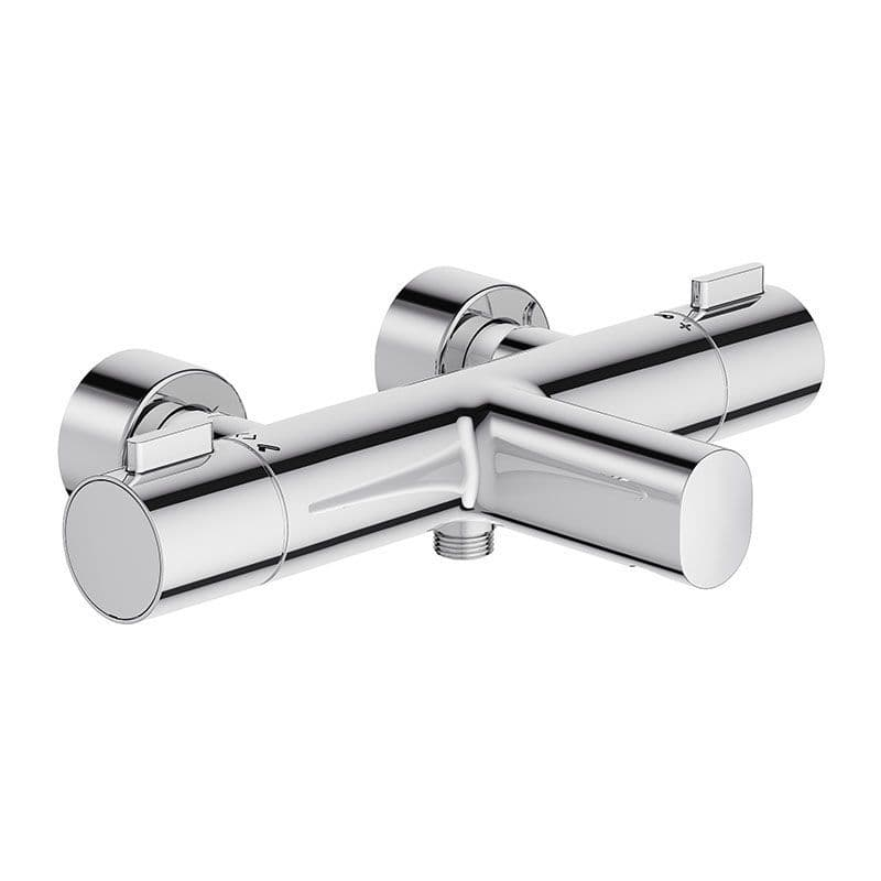 Kohler Cuff Thermostatic Wall-Mounted 2 Hole Bath Shower Mixer Tap with Dial Controls