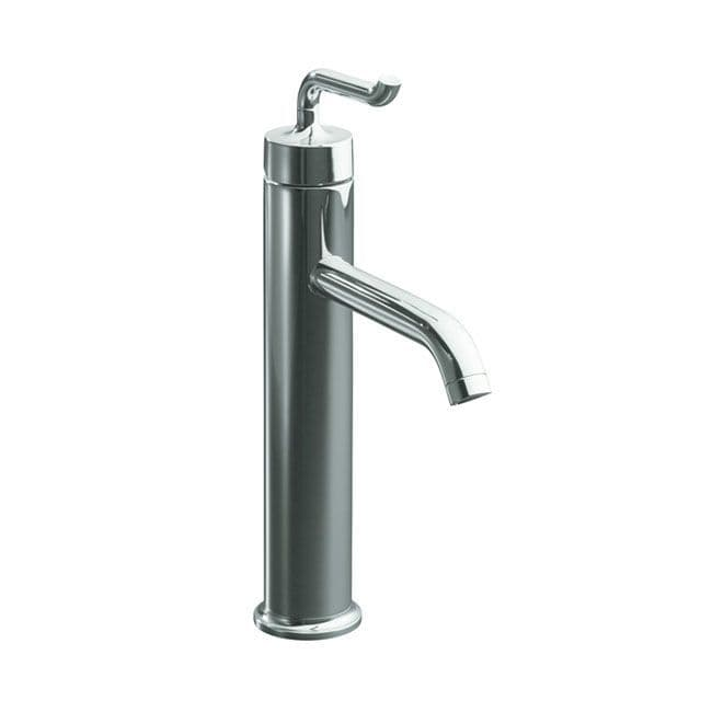 Kohler Purist Tall Deck-Mounted Tall Monobloc Basin Mixer Tap with Smile Lever Handle