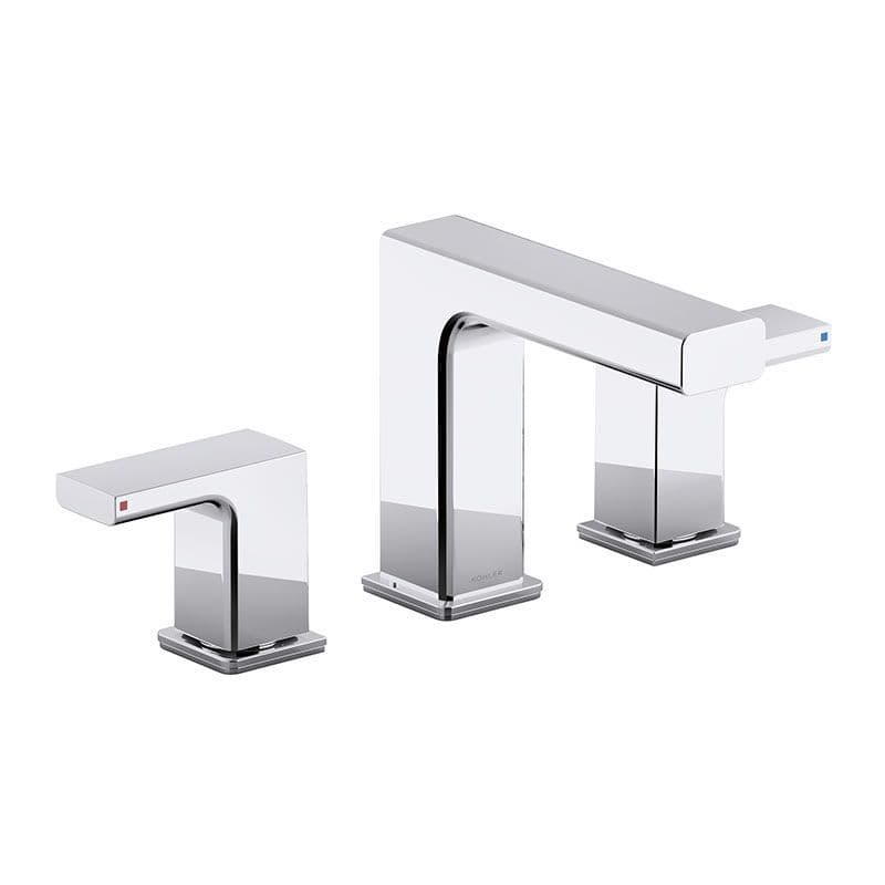 Kohler Strayt Deck-Mounted 3 Hole Basin Mixer Tap with Lever Handles