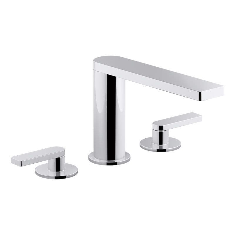 Kohler Composed Deck-Mounted 3 Hole Basin Mixer Tap with Lever Handles