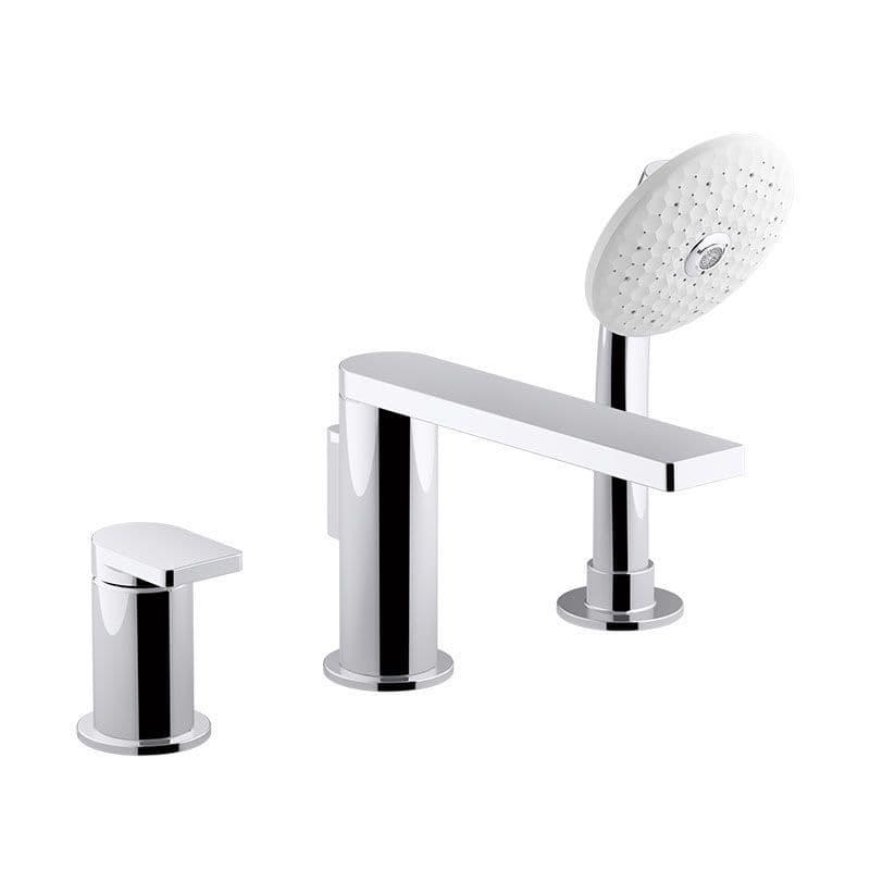 Kohler Composed Deck-Mounted 3 Hole Bath Filler with Lever Handle + Handshower