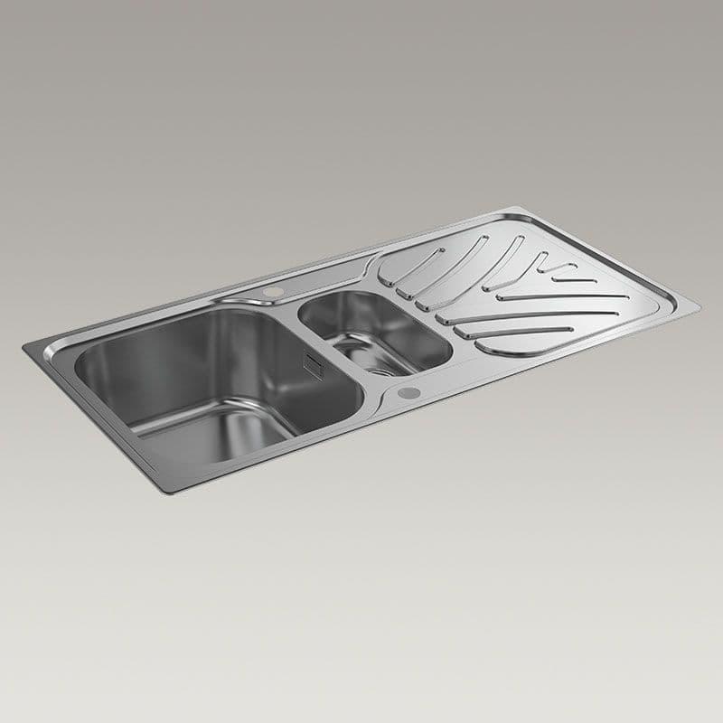 Kohler Ease 1000mm 1.5 Bowl Kitchen Sink with Draining Board