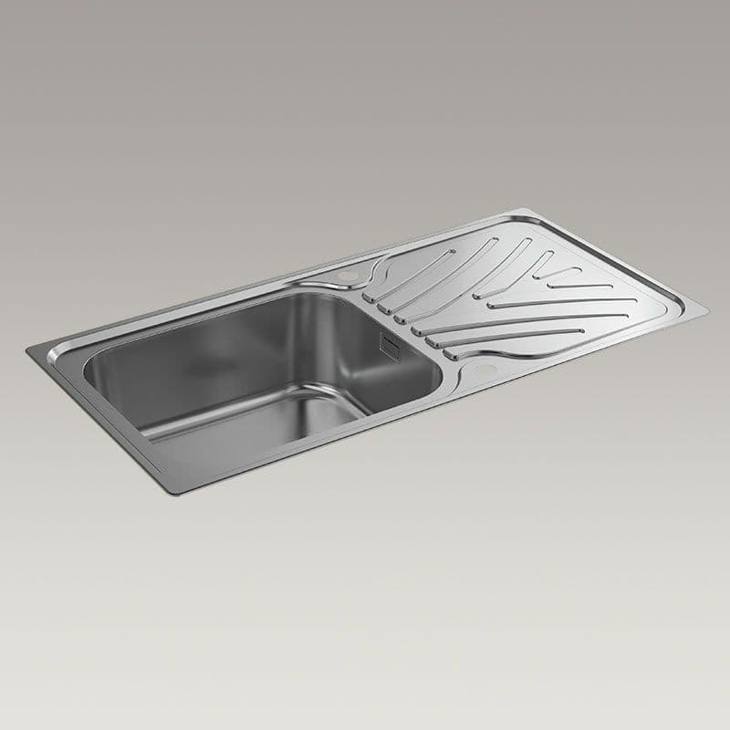Kohler Ease 1000mm Kitchen Sink with Draining Board