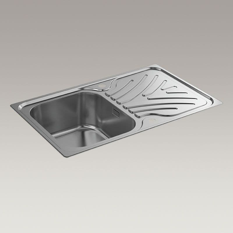 Kohler Ease 800mm Kitchen Sink with Draining Board