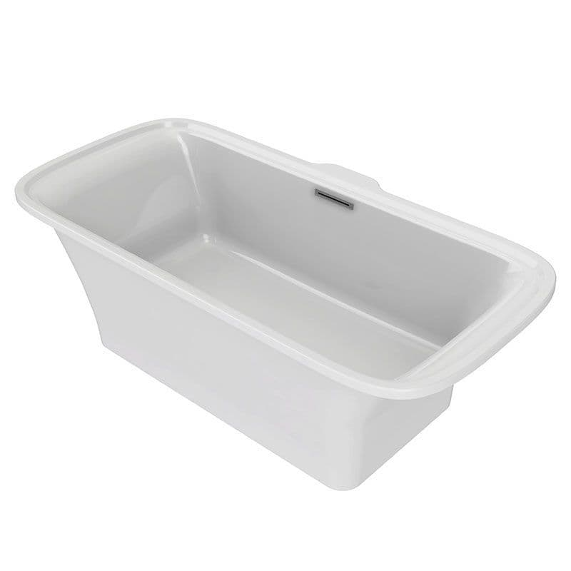 Kohler Flote 1800 x 850mm Freestanding Bath with Rectangular Overflow