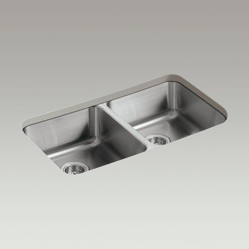 Kohler Icerock 800mm Double Bowl Kitchen Sink
