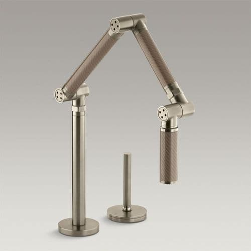 Kohler Karbon Articulated Kitchen Mixer Tap - Bronze/Brushed Bronze
