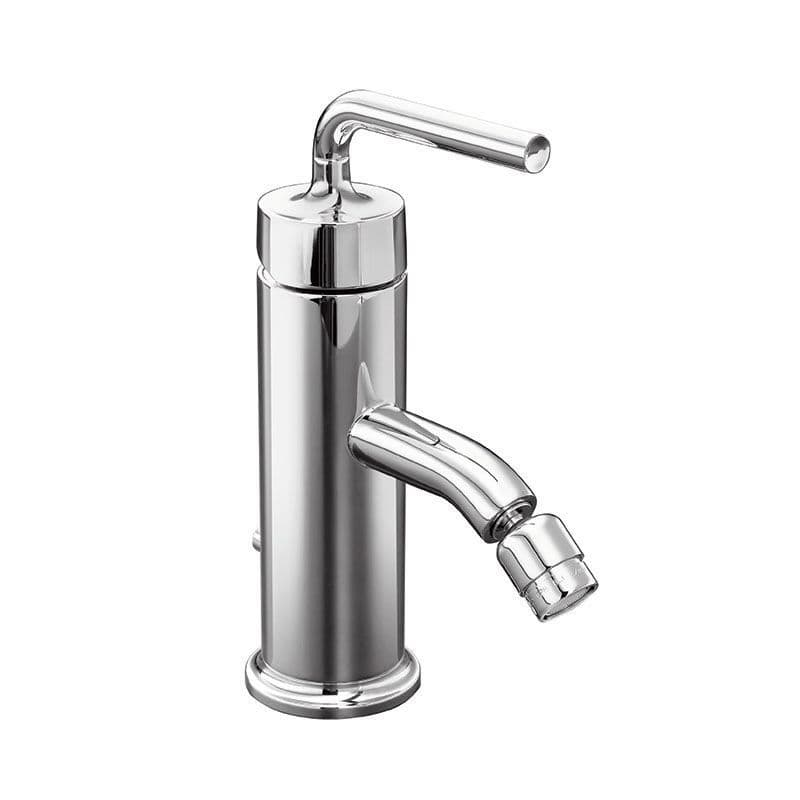 Kohler Purist Deck-Mounted Monobloc Bidet Mixer Tap with Straight Lever Handle