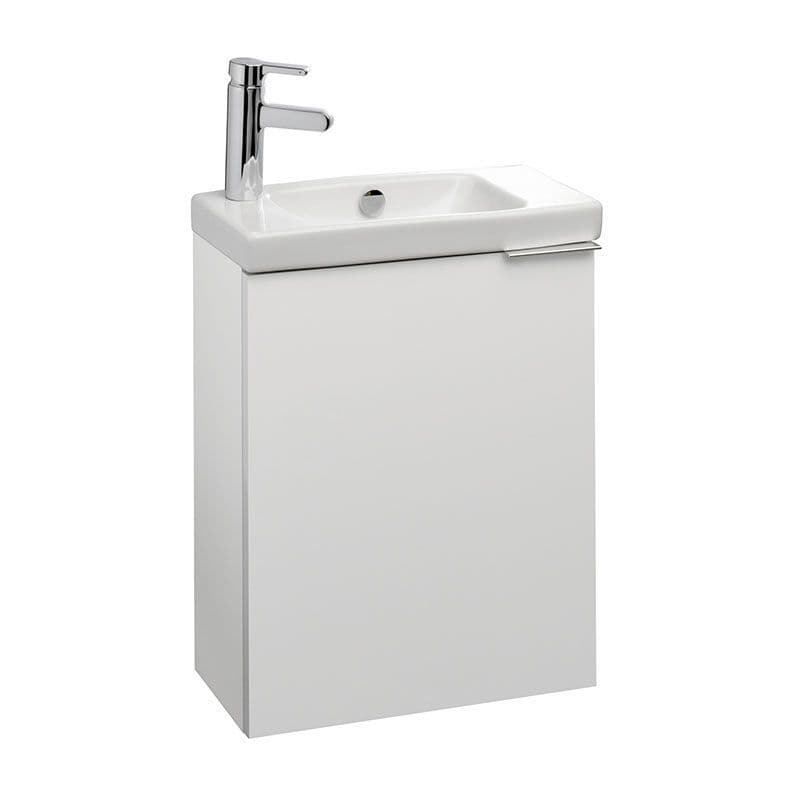 Kohler Reach 500mm Compact Hand Washbasin with Left-Hand Tap Deck & Base Unit