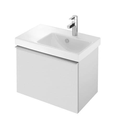 Kohler Reach 650mm Washbasin (Right-Hand Basin) & Base Unit with 1 Drawer