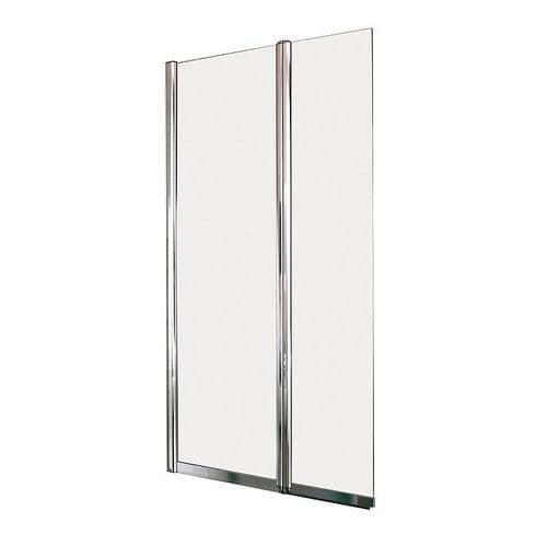 Kohler Reversible 800mm Twin Panel Square Bath Screen