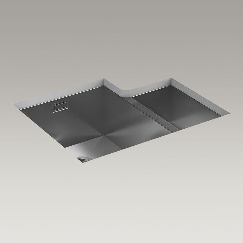 Kohler True 577mm 1.5 Bowl Kitchen Sink (Left-Hand Bowl)