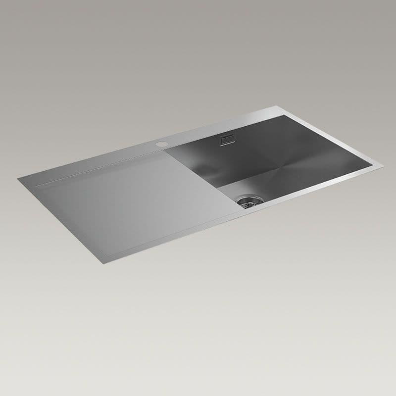 Kohler True 920mm Kitchen Sink with Left-Hand Draining Board