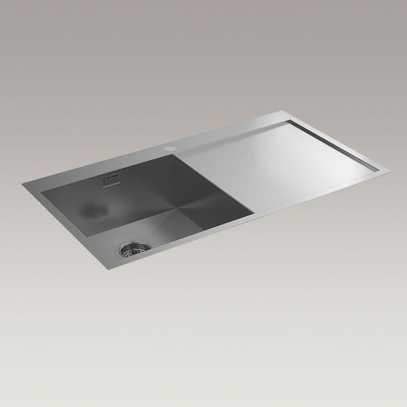 Kohler True 920mm Kitchen Sink with Right-Hand Draining Board