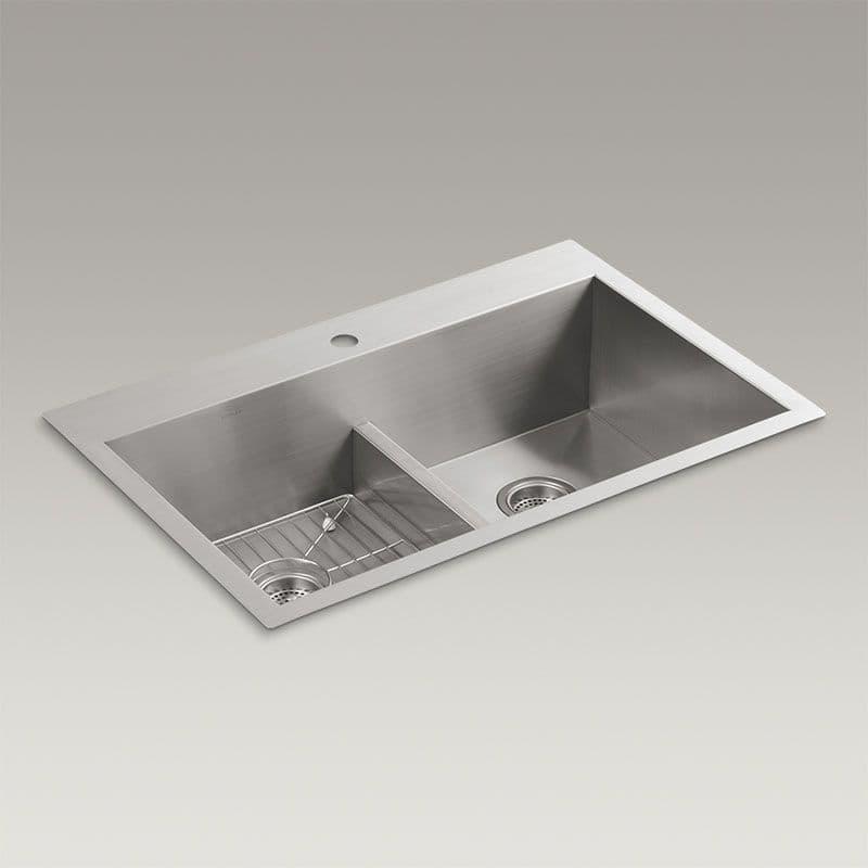 Kohler Vault 838mm Smart Divide Double Bowl Kitchen Sink