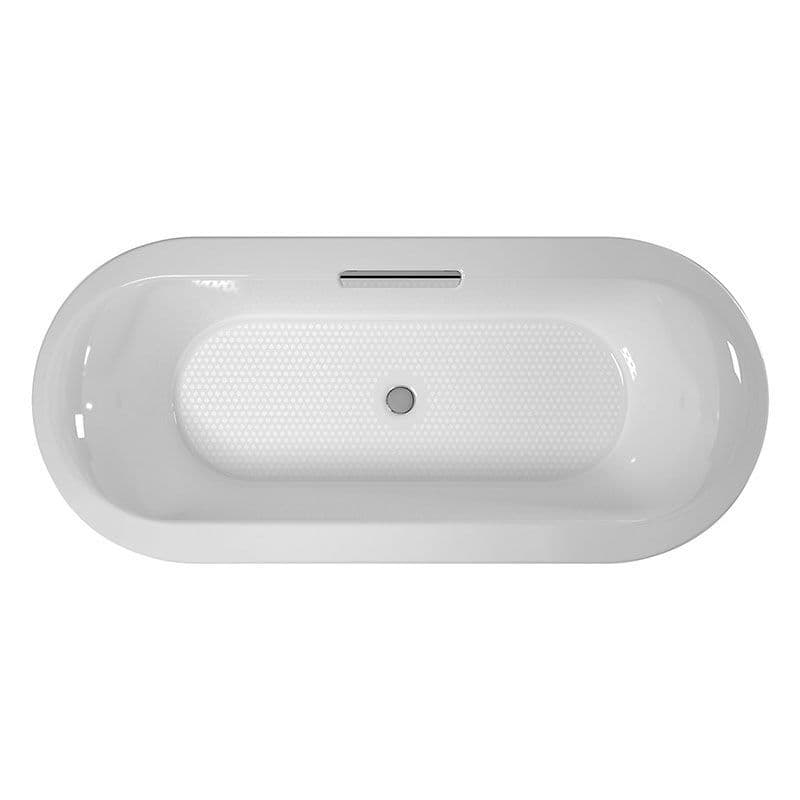 Kohler Volute 1700 x 800mm Cast Iron Bath with Rectangular Overflow