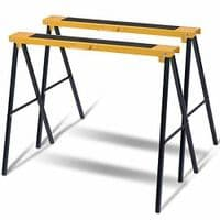 2 SAW HORSE TRESTLE PAIR STEEL FOLDING NON SLIP SAW FOLDABLE CARPENTER BUILDER